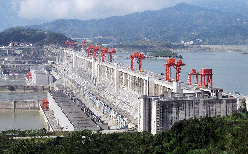 三峡ダム全体図