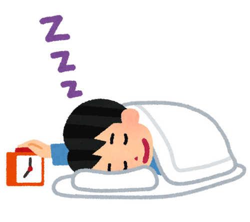 目覚まし時計 二度寝 いらすとや