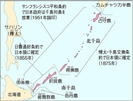 日本共産党の千島政策地図