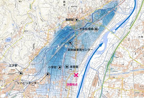 40 千曲川 決壊地図