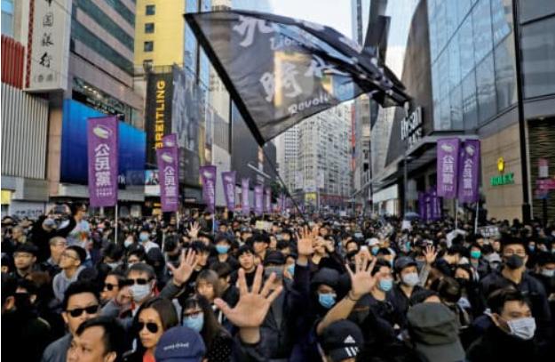 香港デモ 201912 ロイター