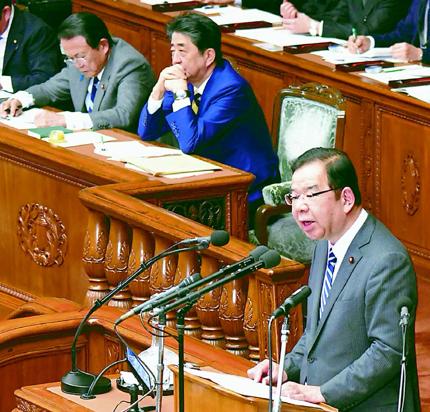 安倍首相を追及する志位委員長