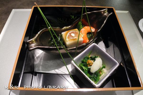 2019年12月15日6旬菜・雲丹豆腐・芹と水菜の蒸し雲丹浸し