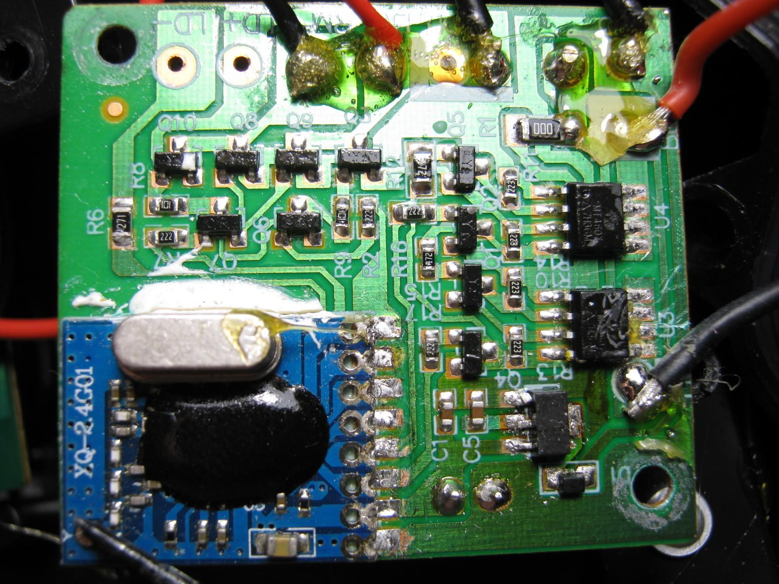 CCP社W-DRIVEプラスの2.4GHzRFモジュール換装コントローラメイン基板
