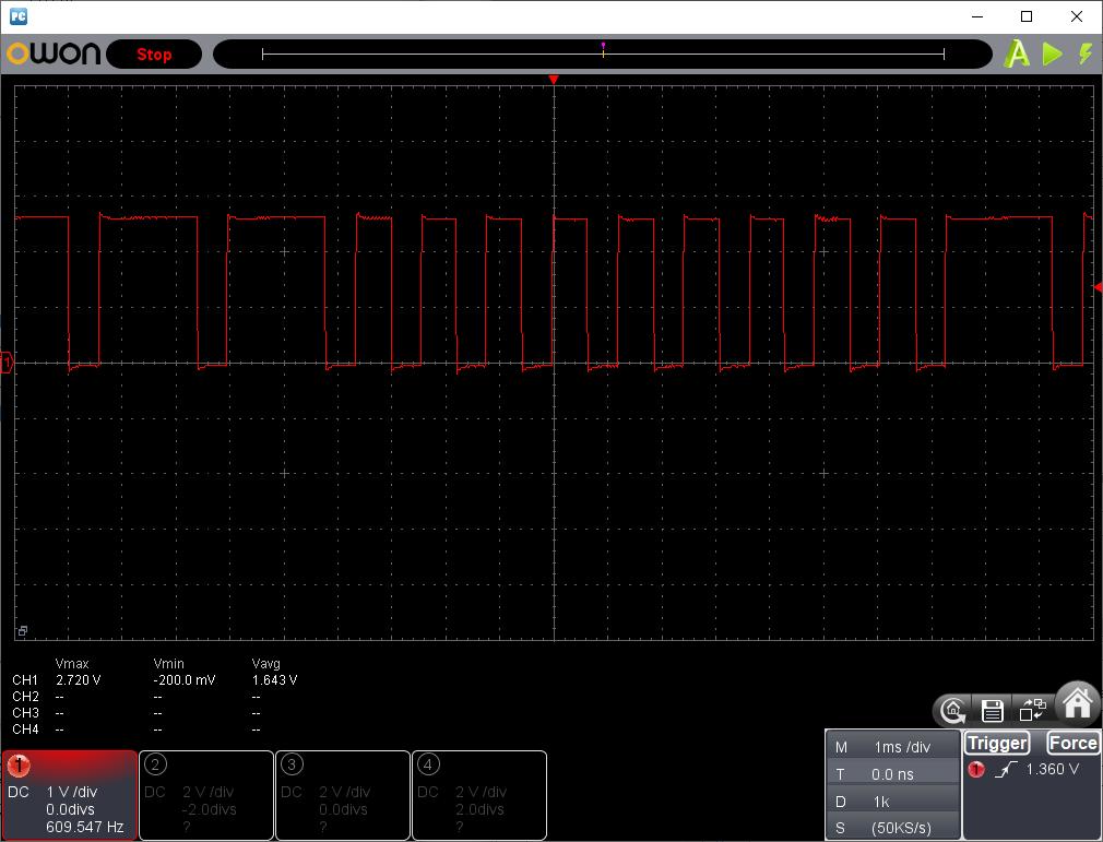 赤外線リモコンヘリ(マイコン換装)W1周期下限