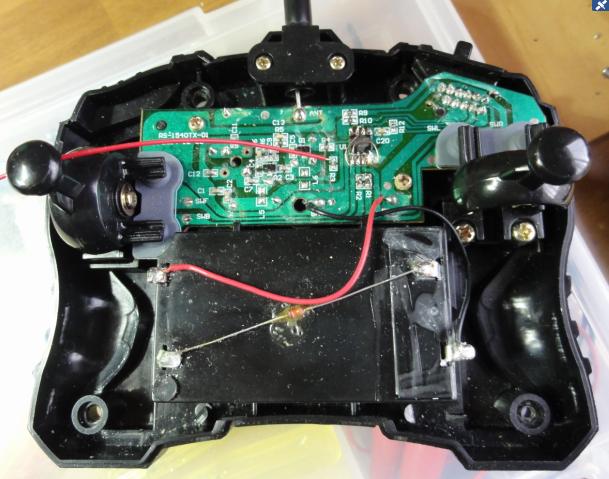 CCP社G-DRIVEecoハマーH3(レガシーバンド超再生式)(マイコン換装)コントローラ換装後装着画像1