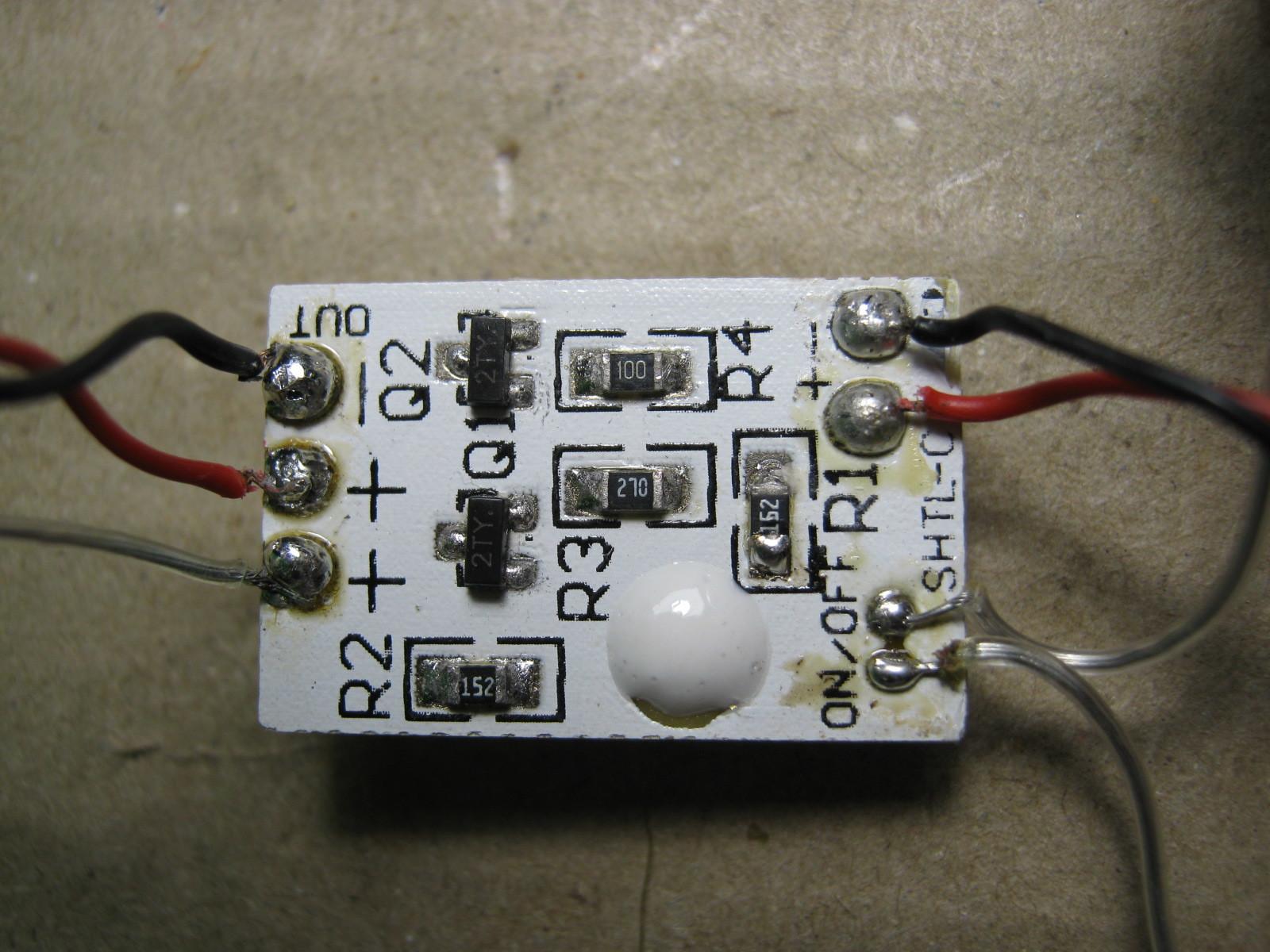 コンサートLEDライト(マイコン換装)元基板表