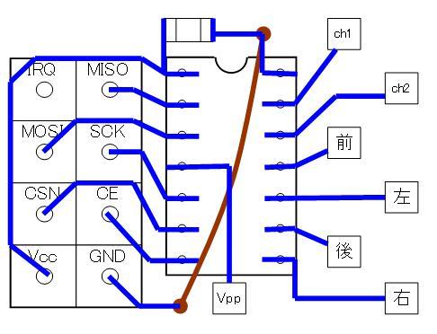 2.4GHzラジコン用ファームウェアの改善(基板パターン検討)16F1503・CCP・DIP①