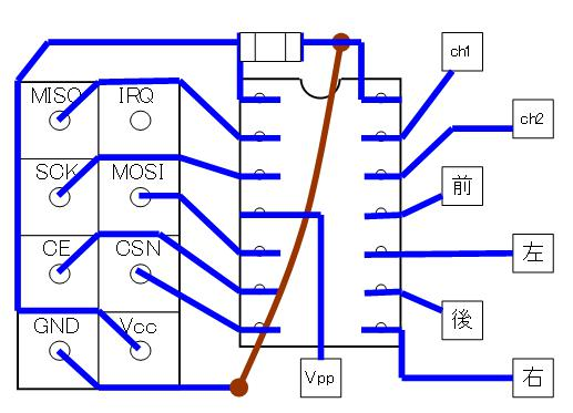 2.4GHzラジコン用ファームウェアの改善(基板パターン検討)16F1503・CCP・DIP③