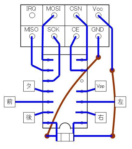 2.4GHzラジコン用ファームウェアの改善(基板パターン検討)16F1823・ポートC・DIP②