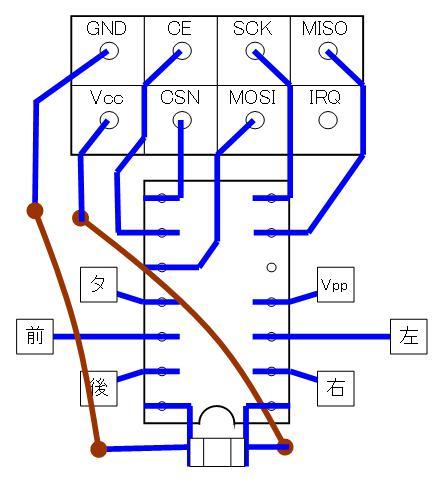 2.4GHzラジコン用ファームウェアの改善(基板パターン検討)16F1823・ポートC・DIP③
