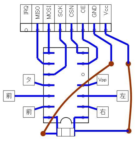 2.4GHzラジコン用ファームウェアの改善(基板パターン検討)16F1823・ポートC・SMD②