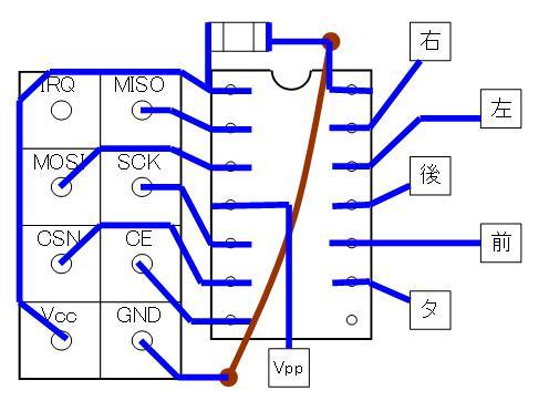 2.4GHzラジコン用ファームウェアの改善(基板パターン検討)16F1823・若番ピン・DIP①