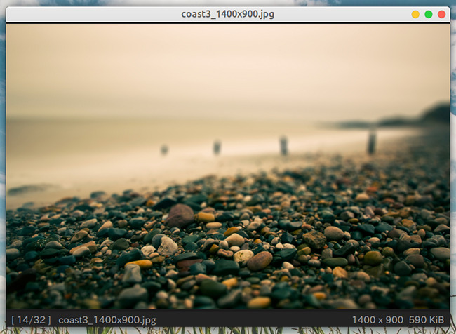 Qimgv 画像ビューア ステータスバー