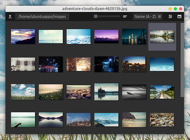 Qimgv 画像ビューア Ubuntu 18.04