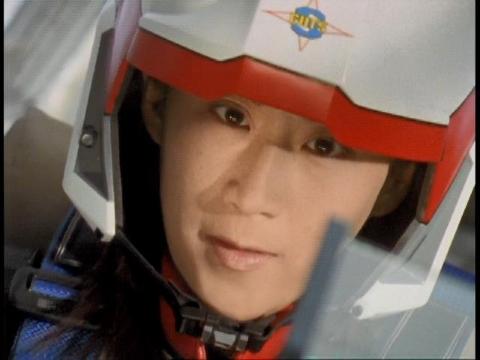 ダイゲルンに向かっていくユミムラ・リョウ隊員(演:斉藤りさ)