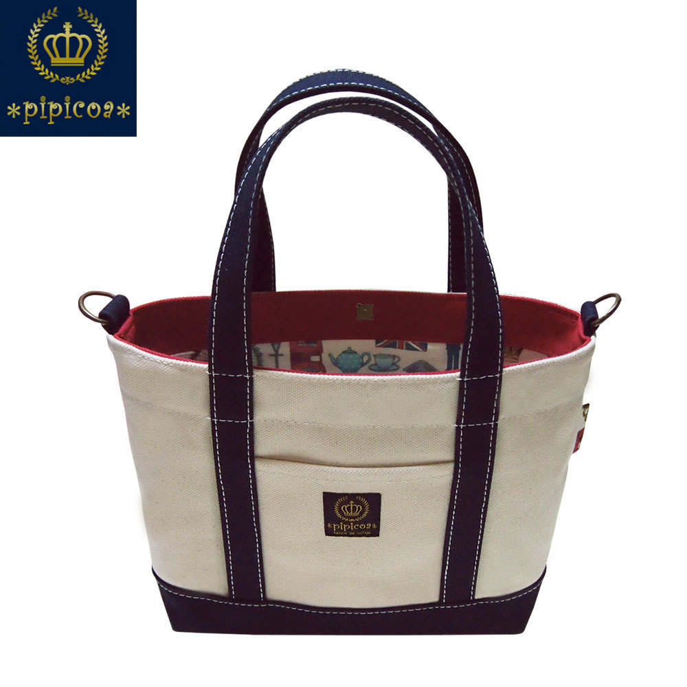 695-006-01【*pipicoa*Tote-Bag】*pipicoa*「ロンドンアイコン」オリジナルトートバッグ-S-1