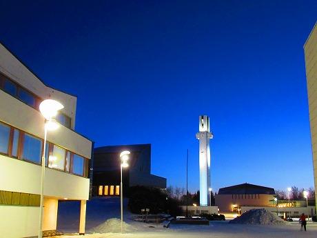 夜明け前のアールトセンター