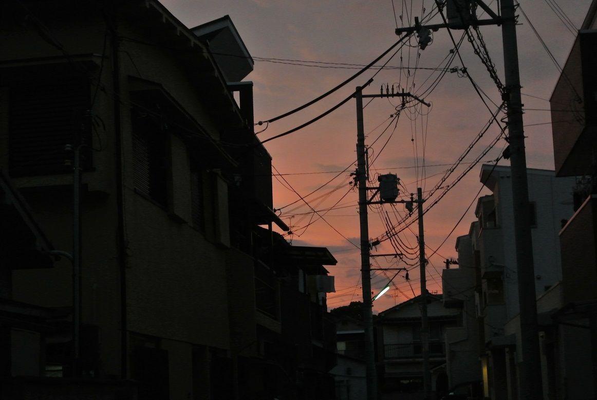 「夕焼けの街市内其の2」