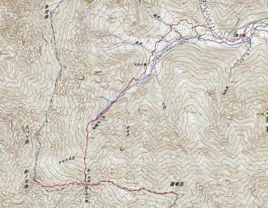 190924 蓮華針ノ木軌跡