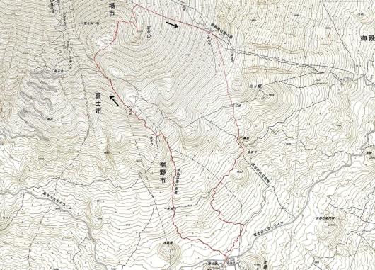 191006 宝永山軌跡