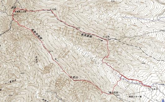 191015 赤岳軌跡