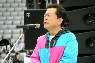 東京マラソンで登壇するI氏