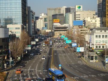 2019年12月8日 ソウル路より崇礼門方面