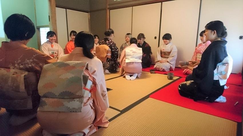 奈良きもの芸術専門学校 茶会