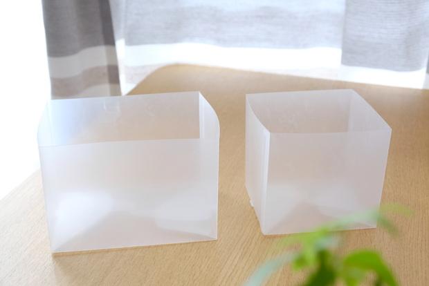 無印・ポリプロピレンシート仕切りボックス・3枚組①