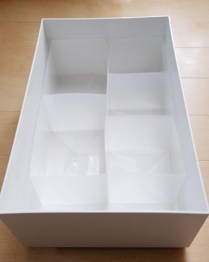 無印・ポリプロピレンシート仕切りボックス・3枚組⑤
