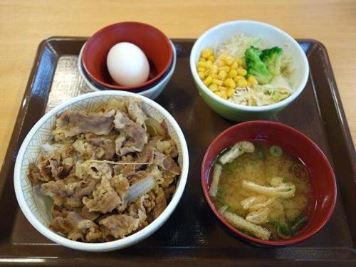 牛丼(並盛)ランチセット